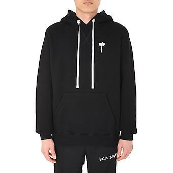 Palm Angels Pmbb055e20fle0021001 Homme's Sweat-shirt en coton noir
