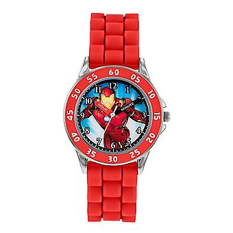 Children's Marvel Avengers Iron Man Red Analogue Watch