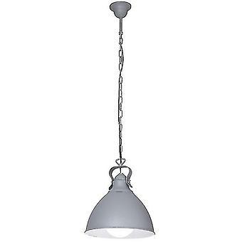 Ivy Suspension Lampe Couleur de lait, Gris métal, L26xP26xA100 cm