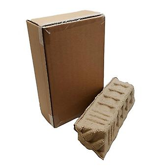 Protective Storage Moving Box Wine Spirit Box 2 Bottles Twin Bottle Boxes Eco Friendly Protective Clamshell 230mm x 120mm x  370mm 5 Pack