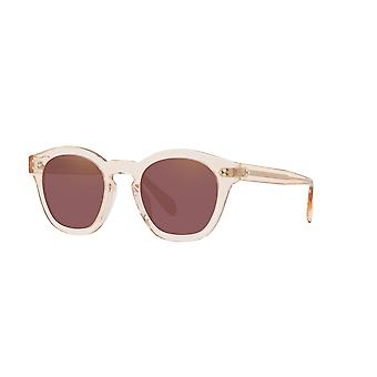 Oliver Peoples Boudreau L.A OV5382SU 1652E4 Light Silk/Burgundy Gold Mirror Sunglasses