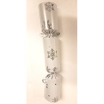 "12"" White with Silver Snowflake Cracker - 100"