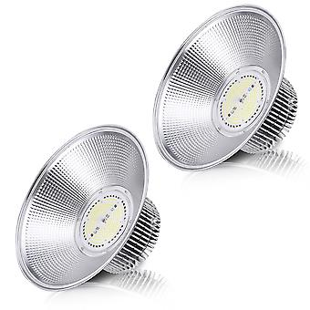 DELight 2 pack 200W LED High Bay Light 6000-6500k Commercial Industrial High Bay Led Shop Light Warehouse Fixture Lamp