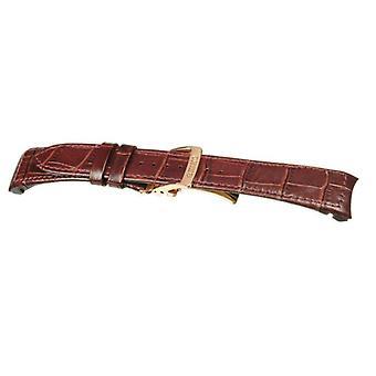 Seiko حزام ساعة جلدية بنية اللون لsnp096p1