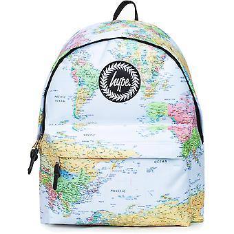 Hype Maps Backpack Bag Light Blue 86