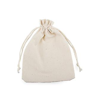 15 Small 11x15cm Linen Fabric Drawstring Bags to Paint & Decorate