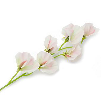 Single 45cm Pretty Sweet Pea Stem - Premium Artificial Fabric Flowers