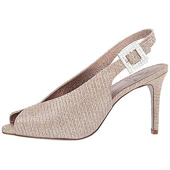 Adrianna Papell Women's Shoes Fiora Fabric Peep Toe Special Occasion Mule Sandals