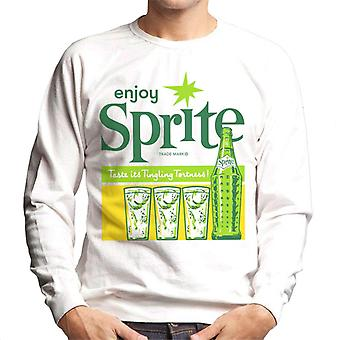 Geniet van Sprite 1960 Vintage frisdrank heren Sweatshirt