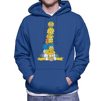 De Simpsons familie stack mannen ' s Hooded Sweatshirt