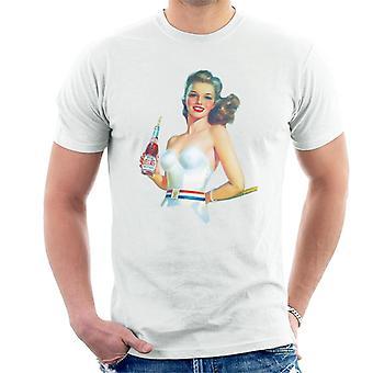 Pepsi Cola retro meisje mannen T-shirt