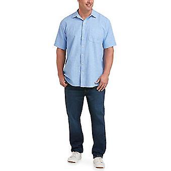 Essentials Men's Big & Tall Short-Sleeve Camisa de algodão de manga curta fit by DXL...