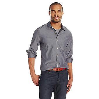 Goodthreads Men's Slim-Fit Langarm Doppeltasche Arbeit Shirt, grau, Medium