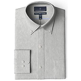 BUTTONED DOWN Men's Classic Fit Button Collar Solid Pocket Options, Medium Gr...
