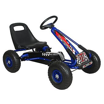 RideonToys4u Full Ahead Kids Pedal Go Kart With Air Wheels Blue
