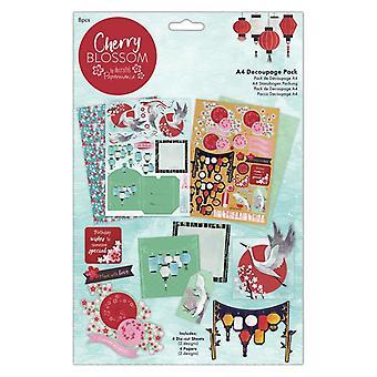 Papermania Cherry Blossom A4 Decoupage Pack
