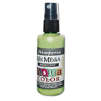 Stamperia Aquacolor Spray 60ml Iridescent Light Green