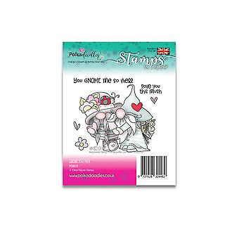 Polkadoodles Gnome Together Clear Stamp