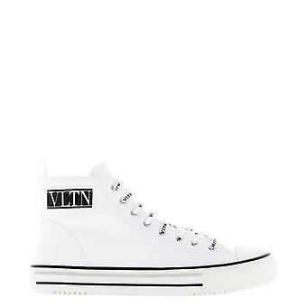 Valentino Garavani Uy2s0d51mbu0bo Men's White Nylon Hi Top Sneakers