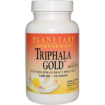 Planetary Herbals, Ayurveda, Triphala Gold, 1.000 mg, 120 Tabletten