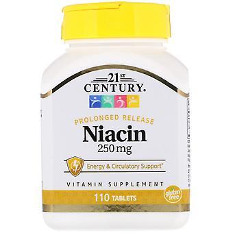 21e siècle, Niacine, Libération prolongée, 250 mg, 110 comprimés