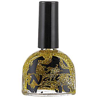 Make-up und Wimpern Gold Glitter Nagellack