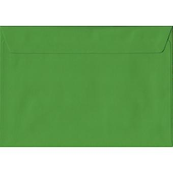 Fern grønne skræl/segl C5/A5 farvet grøn konvolutter. 100gsm FSC bæredygtig papir. 162 mm x 229 mm. tegnebog stil kuvert.