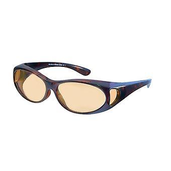 Sunglasses Unisex brown with bright orange VZ0002D