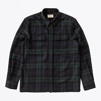 Nudie Jeans - Wool Checked Shirt - Zwart/Groen