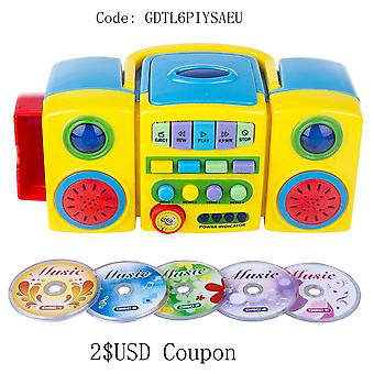 Kids Learning Cd Player Educational Musical Toy Portable Audio & Video Cd Players Toys New Year Gift