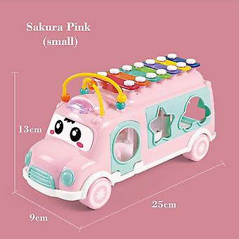 Plastic Xylophone Bus Car Music Instrument Toy For Children - Kids Education Toddler Mobile Toy For Boys Girls