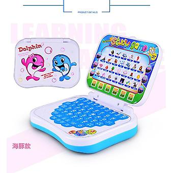 Cartoon Fold Pronunciation Learning Machine English Alphabet Language Computer Baby Tablet Educational Toys Children Gift (random Color)