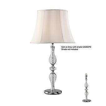 Inspired Diyas - Albas - Crystal Table Lamp (SHADE SOLD SEPARATELY) 1 Light Silver