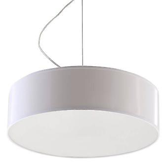2 Light Round Ceiling Pendant White, E27