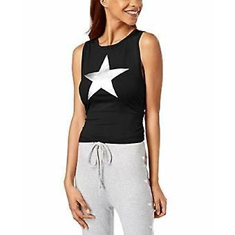 Material Girl | Ruched Metallic-Graphic Top