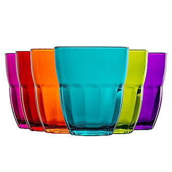 Bormioli Rocco Ercole farbige Tumbler Gläser - 230ml (8oz) - mehrfarbig - Set von 6