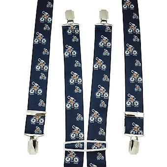 Krawatten Planet Navy Blau Radfahrer Männer's Hosenträger
