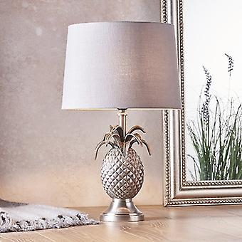 Endon belysning ananas & mia - bordlampe tinn plate og kull lin 1 lys IP20 - E27