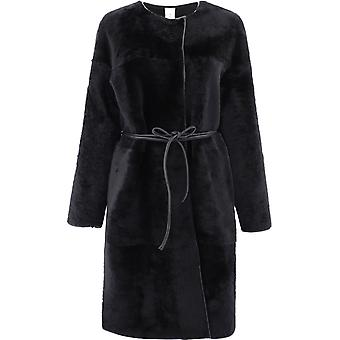 Giani Bettylaconnero Women's Black Fur Coat