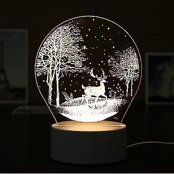 3d Hars nachtlampje led tafellamp voor slaapkamer