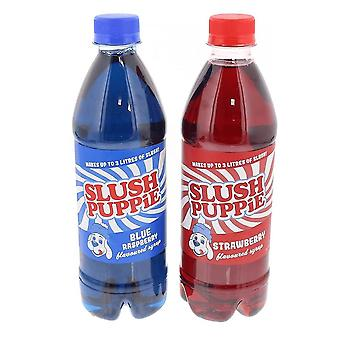 Slush Puppie Blue Raspberry and Strawberry Syrup Set