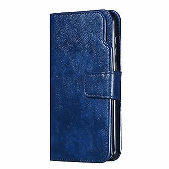 Wallet Case for Samsung Galaxy A7 2018 Blue ruijianian-89