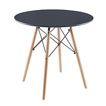 Matera grey round table 80x80 cm Saska Garden