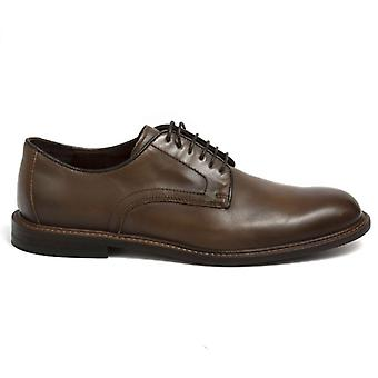 Marco Ferretti Brown Leather Lace-Up Men's Shoe
