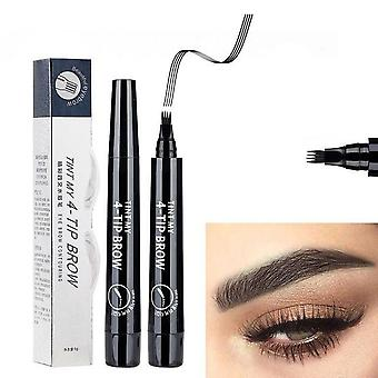 Eyebrow Pencil 4 Claw Tattoo Pen Professional Long Lasting Waterproof Cosmetics