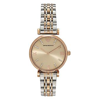 Armani Ar1840 Two Toned Silver & Rose Gold Women's Watch