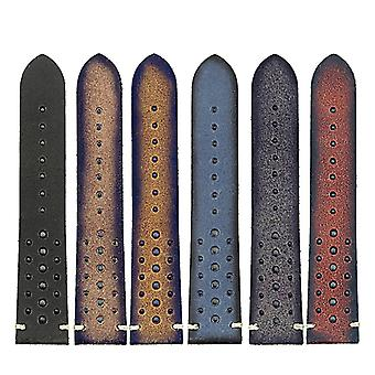 Strapsco dassari speedster perforated vintage leather rally strap