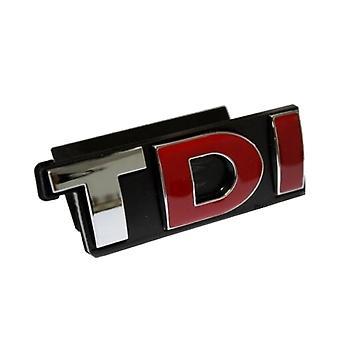 Chrome/Red/Black TDI Front Grill Bonnet Badge Emblem Grill Badge Emblem For Volkswagen, Audi, Skoda, Seat