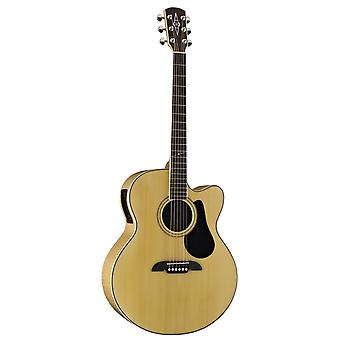 Alvarez artist series aj80ce jumbo acoustic - electric guitar, natural/gloss finish