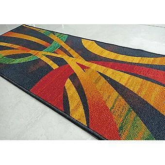 Modernin taiteen mustan alueen matto liukastumisenestoon Pienet matot / juoksijat